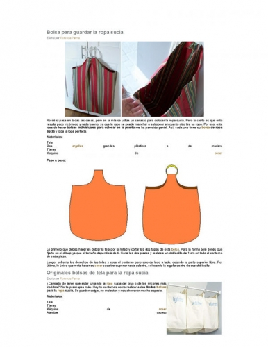 Documento bolsa para guardar la ropa sucia grupos for Bolsas para guardar ropa