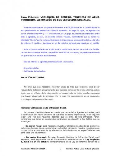 Documento caso practico violencia de genero - Casos de violencia de genero ...