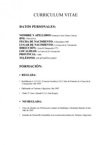 Modelos De Curriculum Vitae Chileno Basico Talentview Com Ph