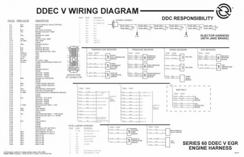 detroit sel ddec ii wiring schematics  detroit  free Chevy ECM Wiring Diagram DDEC V ECM Vehicle Interface Harness