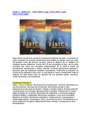Solucionario Fisica Serway Volumen 1 7Ma Edicion