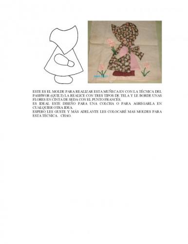 molde muñeca TECNICA PASHWORK (QUILTS)