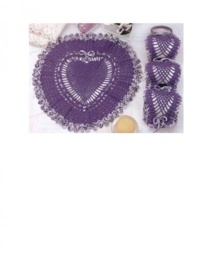 Accesorios de ba o a crochet for Set de bano tejidos