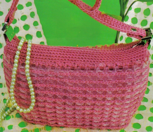 bolsa tejida con fichas de refresco (cadenas)