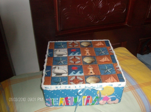 Imagen Caja decorada con decoupage y foami - grupos.emagister.com