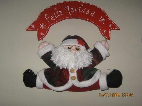 Imagen cartel con papa noel - Papa noel decoracion navidena ...