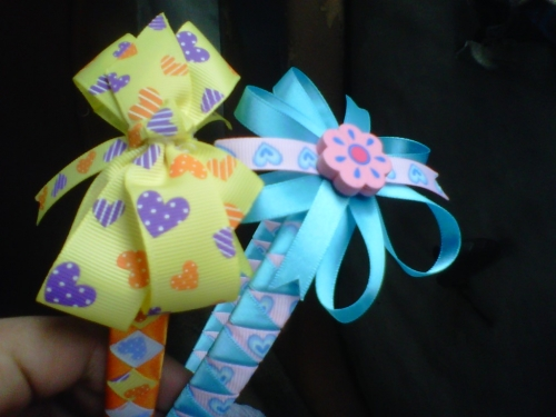 Imagen Cintillos decorados con cinta gros - grupos.