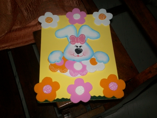 Conejo tierno hecho en foami - Imagui