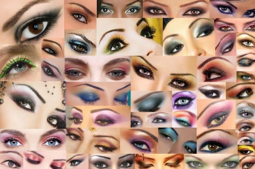 diferentes maquillajes en ojos