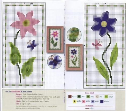 DMC Color variations flores punto cruz