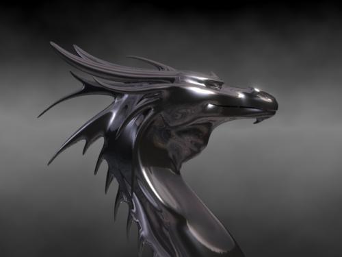 Dragón Hematita con Scanline