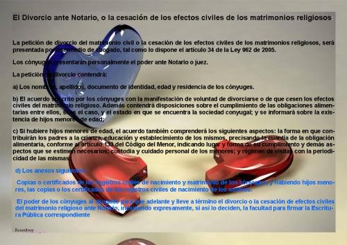 Divorcio Matrimonio Catolico Ante Notario : Imagen el divorcio ante notario o la cesación de los