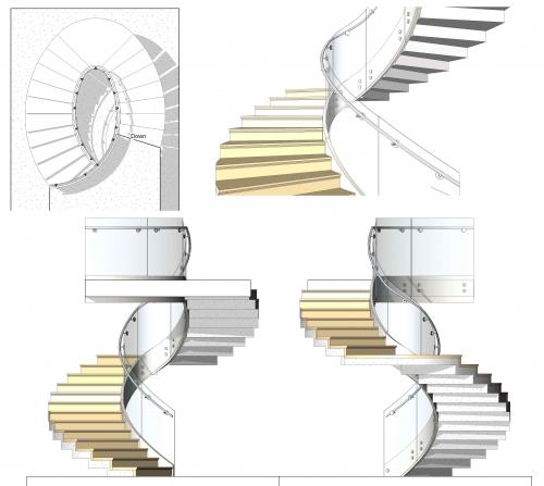 Imagen escalera helicoidal oval for Escaleras helicoidales