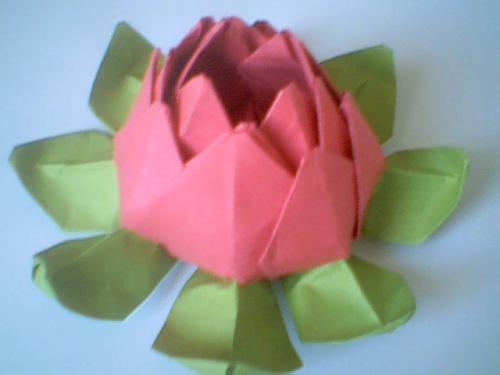 Imagen Flor Lotus de papel. (Origami) - grupos.emagister.com