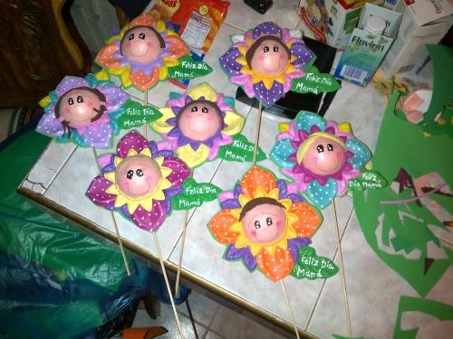 Flores Dia de las Madres En foami