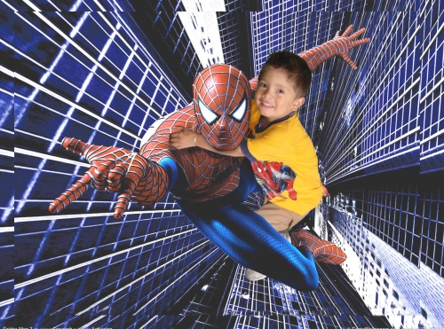 fotomontaje con Spiderman