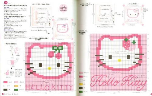 punto cruz hello kitty