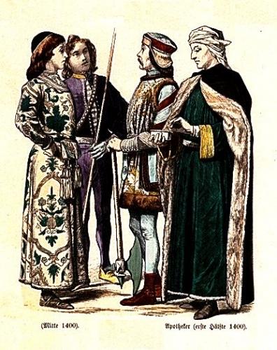 Italianos del medidados del XV; Boticario de principios del XV