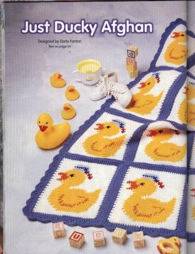 Imagen Manta a crochet con patitos. - grupos.emagister.com