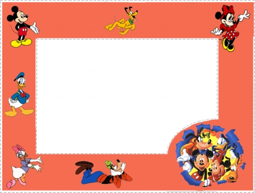 Marco para fotos de Disney gratis - Imagui