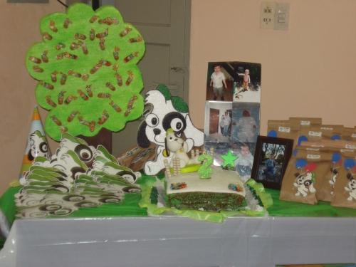 Imagen mesa de presentación cumpleaños Doki - grupos.
