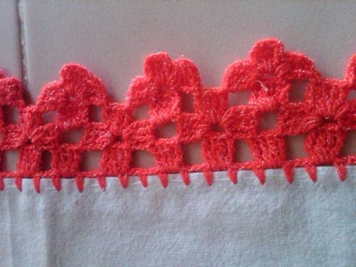 Orillas de servilletas a crochet - Imagui