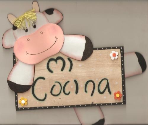 Patrones de vacas en foami para la cocina - Imagui