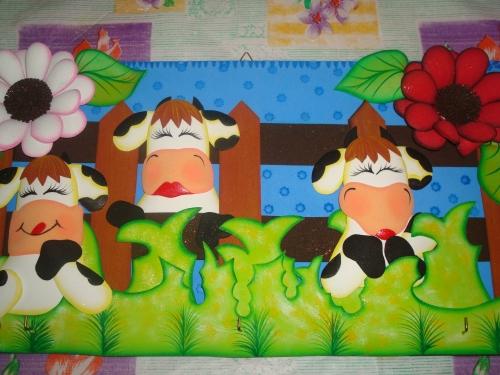 Vacas en foami para la cocina - Imagui