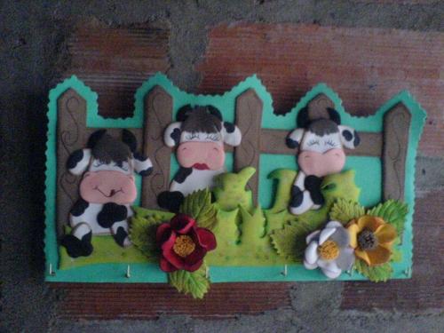 Imagenes de figuras en foamy para la cocina vacas   imagui