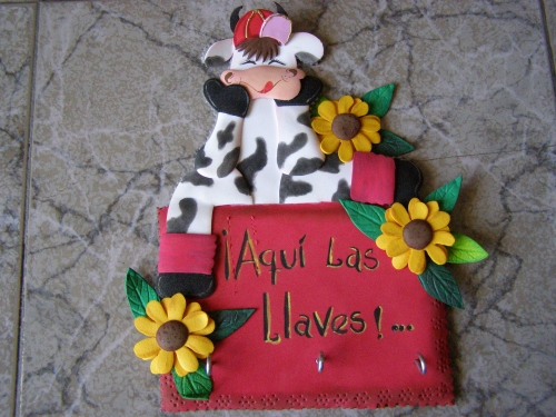 ... de Grupo de Labores y manualidades > Vaca en foami