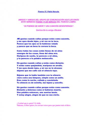 poesia de amor. poemas de amor en espanol