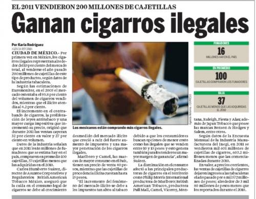 GANAN CIGARRILLOS ILEGALES